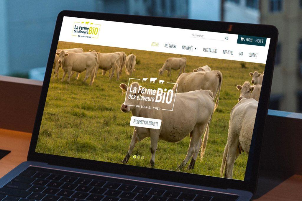 Le site internet des Éleveurs bio du Loir-Et-Cher fait peau neuve !